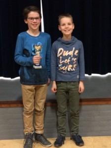 3de prijs slagwerkers Teun van de Hurk en Gijs van Lankvelt