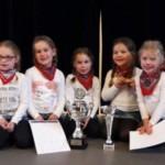 Floor, Iza, Iris, Madelon en Lynn 1ste prijs majoretten