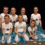 de aanmoedigingsprijs majoretten was voor Esmee, Maud, Femke, Isa, Amber, Lieke en Vera