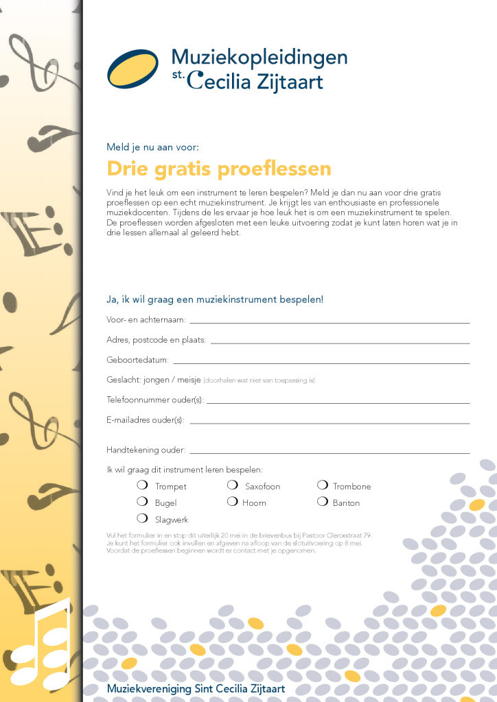 thumbnail of Flyer A4 proeflessen LR