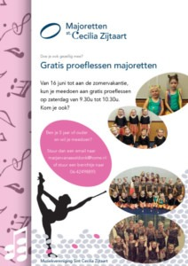 thumbnail of Flyer A4 Majoretten proeflessen LR
